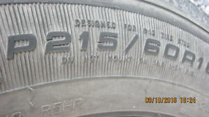 goodyear nordics  winter tires on pontiac rims Peterborough Peterborough Area image 3