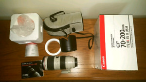 Canon 70-200mm f2.8 IS II telephoto lens for sale