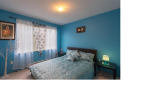 Private furnished room with washroom