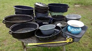 Pots antiques pour jardinage - lot