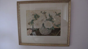 Original Watercolor Flower Painting signed by artist