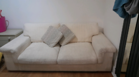 Cream sofa and arm chair for sale
