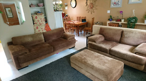 3 piece Chocolate Brown high end sofa set