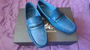 Jose and Markham Blue leather dress shoes size 8
