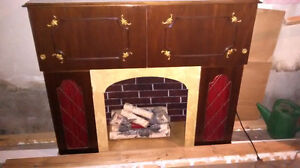 Artificial Fireplace with music player and mini bar London Ontario image 1