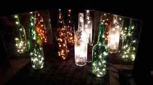 Lighted glass bottles  Stratford Kitchener Area image 1