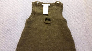 Jacadi Baby Cotton Dress Size 6mts, EUC
