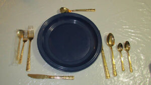 Gold Plated Cutlery 120pcs , never used , fraction of the price