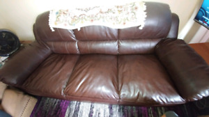 4 pcs leather couches