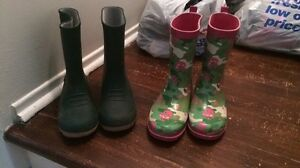Rain/Rubber boots-size 1 and size 2