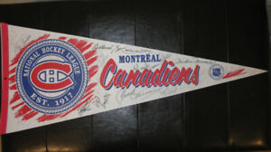 **Reduced Price** Autographed Montreal Canadiens Pennant