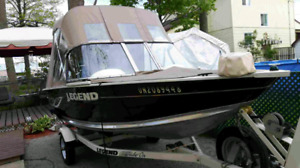 2008 15ft legend boat/trailer and 25hp 4stroke mercury