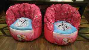 Disney Bean bag chairs, strollers, high chair and rocking horse