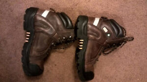 Workload Steel Toed Work Boots, Size 9