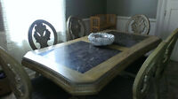 Large decorative dining table- priced to sell