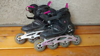 K2 Soft Boot Rollerblades size 7- good condition
