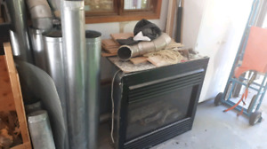 Gas Fireplace & Steel Pipes