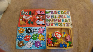 Vguc Melissa and Doug puzzles and string toy