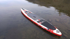 Inflateable SUP Red 12'6 elite with Full Carbon Paddle