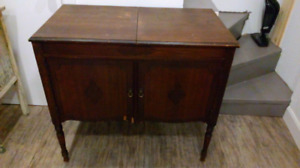 Antique phonograph cabinet.