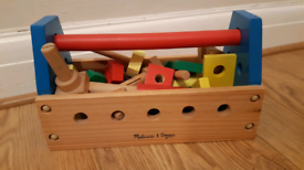 Melissa and Doug Wooden toolkit toy