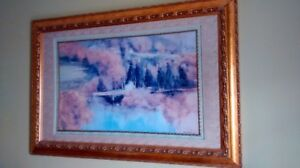 Nature countryside painting