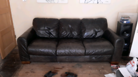 3 SEAT and 2 SEAT LEATHER SETTEE reduced must go