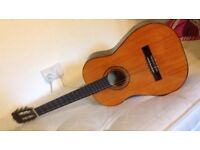 Acoustic guitar with case,books,and pics