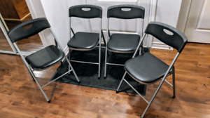 4 chaises pliantes / 4 folding chairs