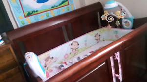 Sleigh bed baby crib