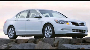 I'm looking for Toyota camry or Honda Accord 2008 or 2008