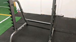 Body Solid Half Power Squat Cage Rack no bench weights bar