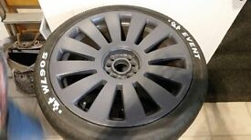 """Audi vw alloy wheels 18"""" with tyres"""