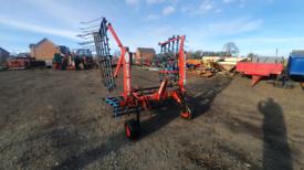 Tractor three point linkage 5m opico folding spring tyne grass harrows