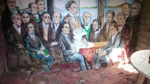 Signing of the Confederation - Hand Painted - Panel Board