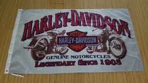 HARLEY DAVIDSON MOTORCYCLE FLAG - NEW - 3 X 5FT