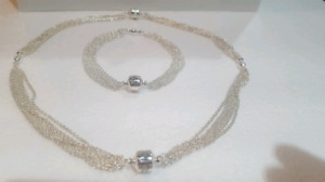 Authentic Pandora New Silver Bracelet and Necklace
