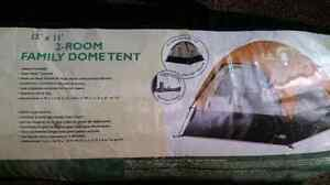 2 tents and a screen house