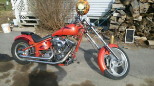Custom 1600 cc chopper