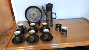 Denby arabesque coffee set