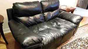 GUC - 3 Piece Genuine Leather Couch Set