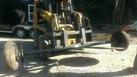 Trailer Axles with Tires and Electric Brakes