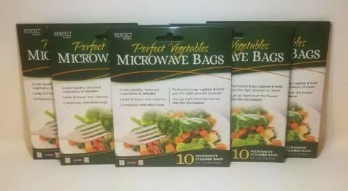 50 Total Perfect Vegetables Microwave Steamer Bags