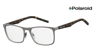 b2819c49786f POLAROID Glasses Frames PLD D332 (R80) Ruthenium  Havana 55mm