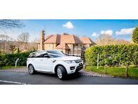 Wedding Car Hire (White Range Rover)
