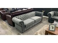 """❣️NEW BRAND❣️""""CHESTERFIELD 3+2 Seater Sofa""""&""""FAUX FABRIC SOFA""""❣️With Fast Delivery❣️"""