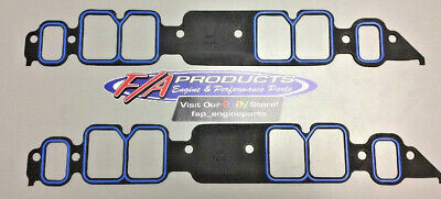 Fel-Pro 1211 BIG Block Chevy With Rectangle Port Intake Manifold Gaskets Pair
