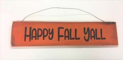 Happy Fall Yall  Autumn Halloween decor rustic country wooden - Wooden Halloween Signs
