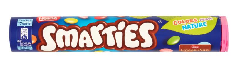 NESTLE SMARTIES - 130G - CRISPY SUGAR SHELLS - CHOCOLATE SMALL DRAGEES LENTLIKI