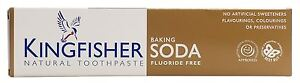 Kingfisher Toothpaste - Baking Soda (Fluoride Free) - 100ml (Pack of 3)